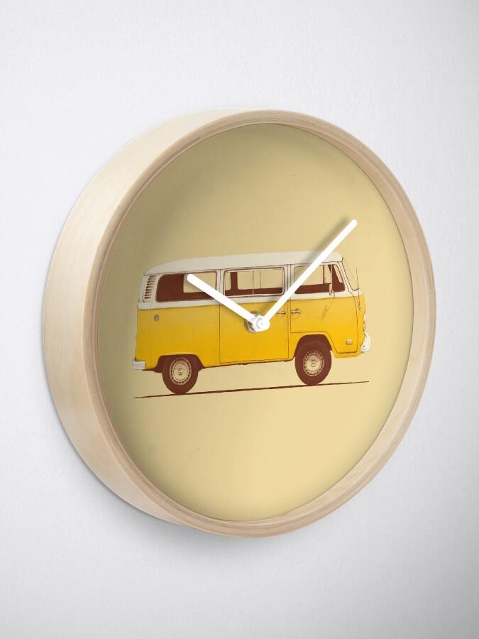 Alternate view of Yellow Van Clock