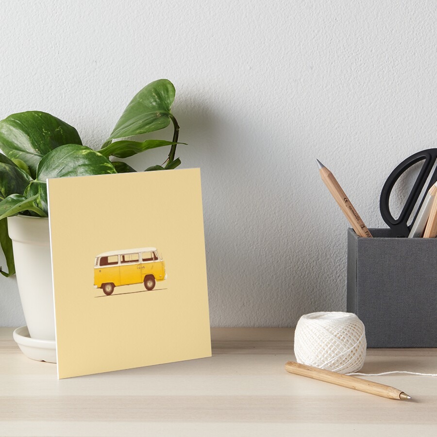 Yellow Van Art Board Print