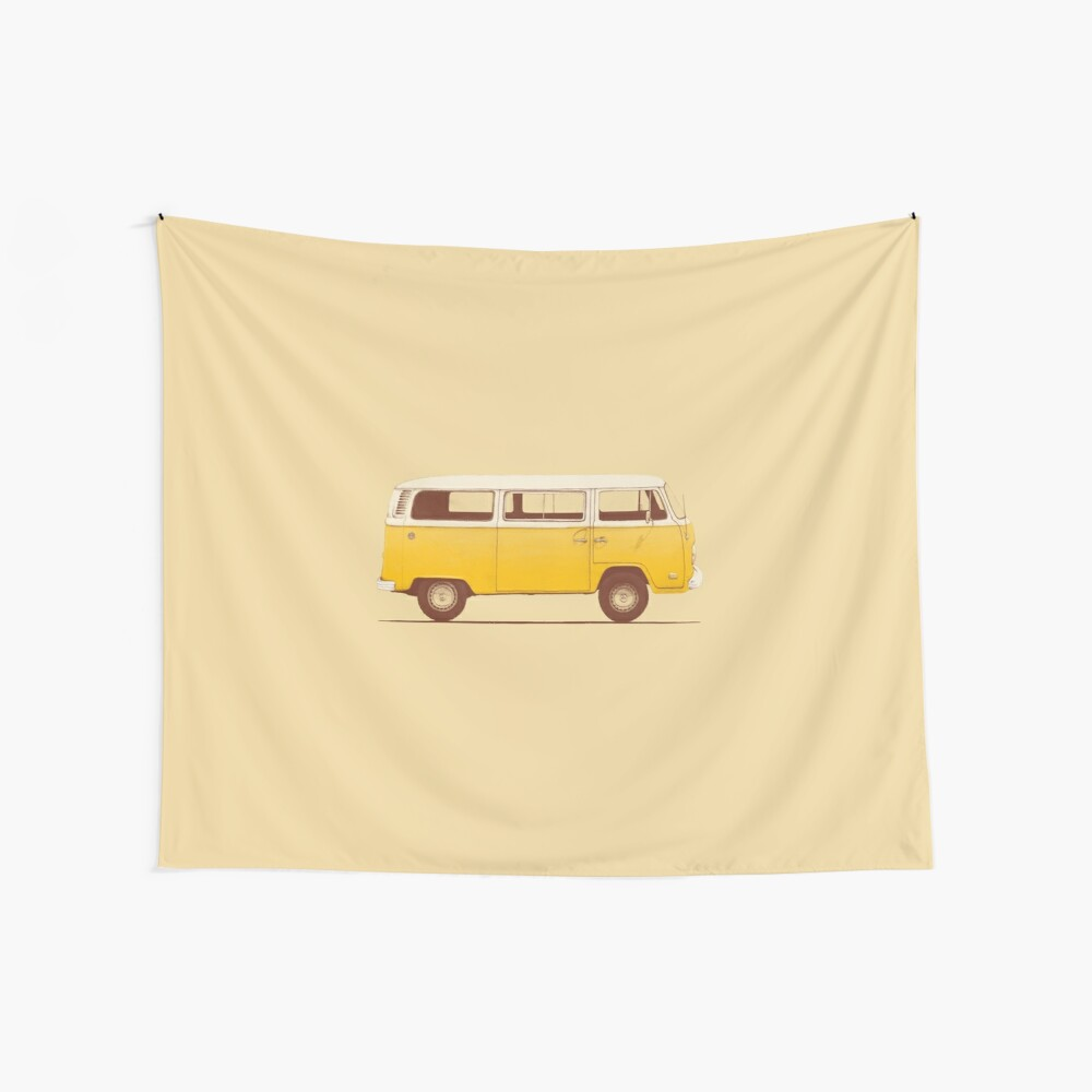 Yellow Van Wall Tapestry
