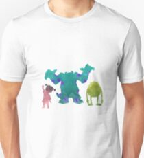 Monsters and girl Inspired Silhouette T-Shirt