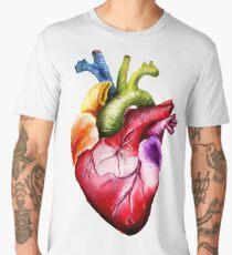 Rainbow Heart Men's Premium T-Shirt
