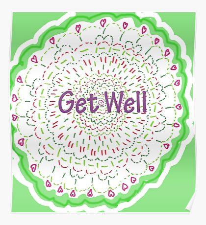 Wishing Well Mandala Poster