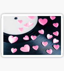 Love Song Record Sticker