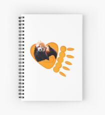 Your red panda teacher - Rowan Siena Spiral Notebook