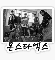 Monsta X - Group (Black & White) Sticker