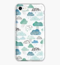 Selection of decorative watercolour clouds  iPhone Case/Skin