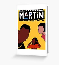 Martin (Yellow) Greeting Card