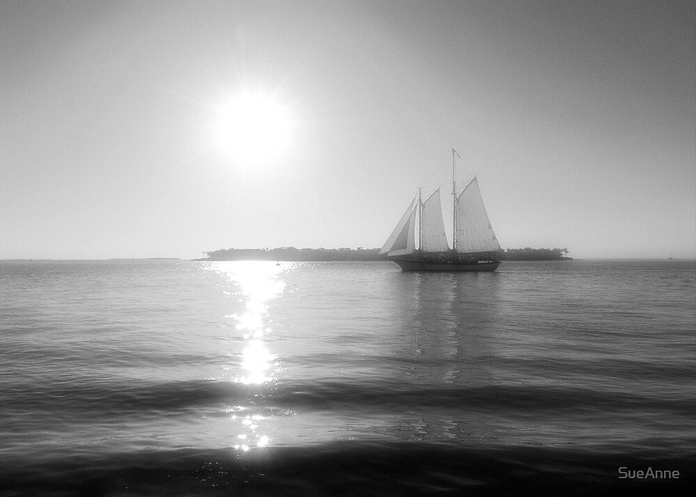 Sailing into the Sun by SueAnne