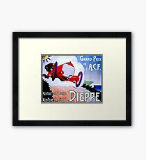 DIEPPE : Vintage Grand Prix Auto Racing Advertising Print Framed Print