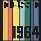 Classic 1964 Birthday Gift Vintage Retro Year  by Sid3walkArt
