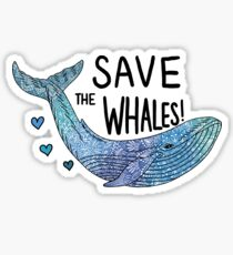 Save the whales! Sticker
