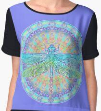 Art Nouveau Dragonfly Women's Chiffon Top