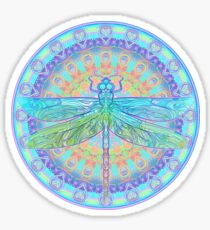Art Nouveau Dragonfly Sticker