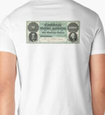 FAKE, Civil War, Confederate States, Dollar, AMERICAN, $1000, Greyback, America, US, USA T-Shirt