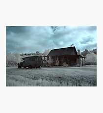 Abandoned Dodge Infrared Photographic Print