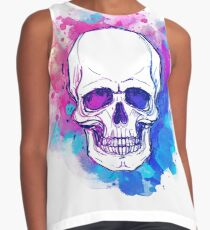 Watercolor Skull Contrast Tank