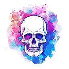 Watercolor Skull by Varvara Gorbash