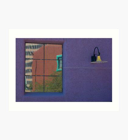 Purple wall, Tucson Art Print