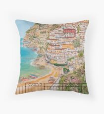 Vista su Positano Throw Pillow