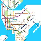 New York City Subway Diagram by Rich Anderson