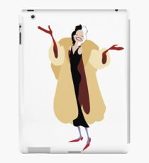 Cartoon Cruella DeVille iPad Case/Skin