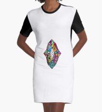 diamonds Graphic T-Shirt Dress