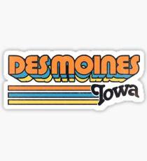 Des Moines, IA | City Stripes Sticker