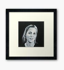 Gillian Anderson B/W original painting Framed Print