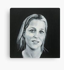 Gillian Anderson B/W original painting Canvas Print