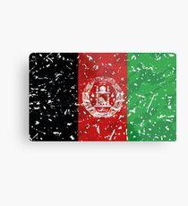 Afghanistan Grunge Vintage Flag Metal Print