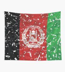 Afghanistan grunge vintage flag Wall Tapestry
