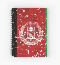 Afghanistan grunge vintage flag Spiral Notebook
