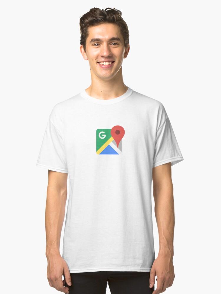 Google Maps Classic T-Shirt Front
