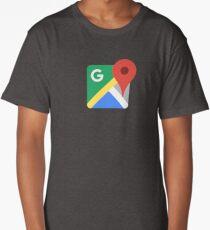 Google Maps Long T-Shirt