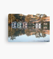 Houseboats on the river. Canvas Print