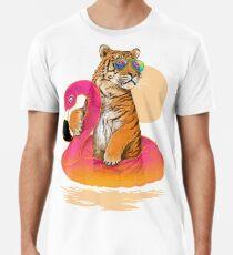 Chillin, Flamingo-Tiger Premium T-Shirt
