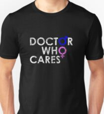 DOCTOR 13 WHO CARES MALE FEMALE TIME SYMBOL TEE Unisex T-Shirt