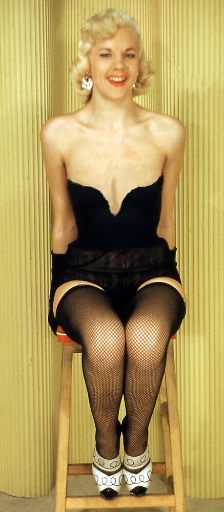 Inga on the stool by MayWebb