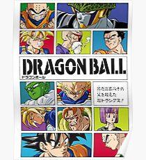 Dragon Ball Character Manga Cover Poster