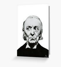 William Hartnell Greeting Card