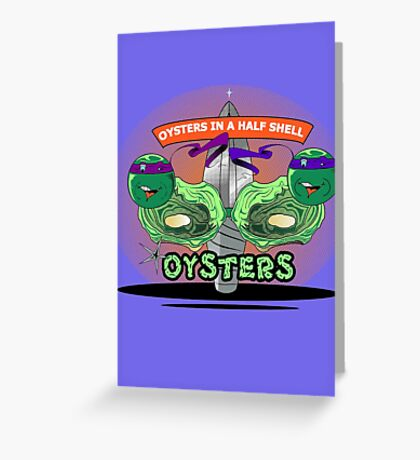 Oysters In A Half Shell Greeting Card