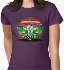 Oysters In A Half Shell Womens Fitted T-Shirt