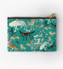 Wolves of the World (Green pattern) Bolso de mano
