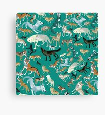 Wolves of the World (pattern) (c) 2017 Canvas Print