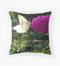 Butterfly kisses from heaven Throw Pillow