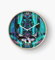 Stealie - Blue Chrome Clock