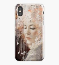Girl with a Headphone Hat iPhone Case/Skin