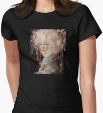 Girl with a Headphone Hat Women's Fitted T-Shirt