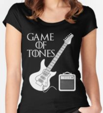 Game Of Tones Cool Guitar Shirt Women's Fitted Scoop T-Shirt
