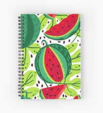 Juicy and sweet watermelon Spiral Notebook